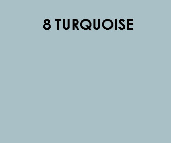 8 Turquoise Sample Colour