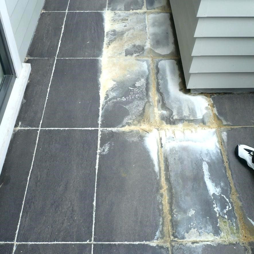 Efflorescence on Grout